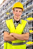 Construction worker smiling Royalty Free Stock Photos