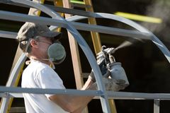 Spray Painter Man Stock Images