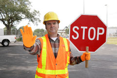 Construction Worker Stop Royalty Free Stock Photo