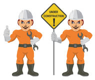 Construction worker superman Stock Image