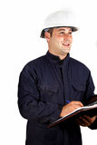 Construction worker taking notes Royalty Free Stock Image