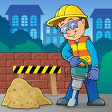 Construction worker theme image 8 Stock Images