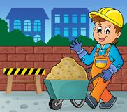 Construction worker theme image 2. Vector illustration Royalty Free Stock Photography