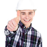 Construction worker with thump up Royalty Free Stock Photography