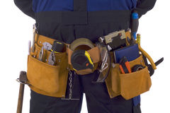 Construction worker tool belt Royalty Free Stock Image