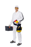Construction worker with a tool box driwer Stock Photography