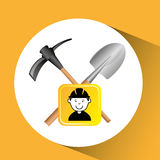 Construction worker tools graphic. Vector illustration eps 10 Stock Photo