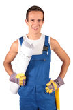 Construction worker trainee Stock Images