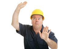 Construction Worker Trapped Royalty Free Stock Image