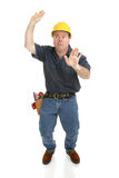 Construction Worker Trapped in Box Stock Photography