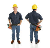 Construction Worker Two Views Royalty Free Stock Photography