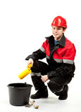 Construction worker in uniform Royalty Free Stock Photo