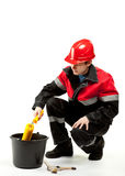 Construction worker in uniform Royalty Free Stock Photography