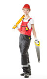 Construction worker in uniform Stock Image