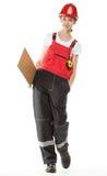 Construction worker in uniform Stock Image