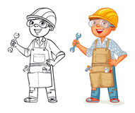 Construction worker in uniform royalty free illustration