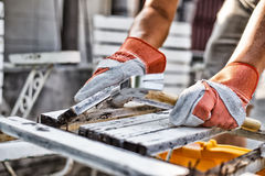 Construction Worker Using Stock Photo