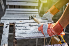 Construction Worker Using Royalty Free Stock Photo