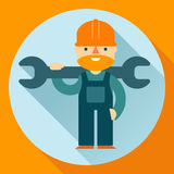 Construction worker vector illustration Stock Photo