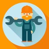 Construction worker vector illustration. Construction worker flat style vector illustration Stock Photo
