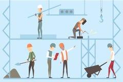 Construction worker vector illustration set. Construction worker vector illustration eps10 Royalty Free Stock Images