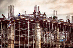 Construction worker in Vietnam Royalty Free Stock Photo