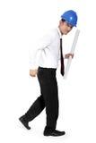 Construction worker walking Stock Photo
