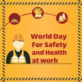 World Day of Safety and Health at Work, 28 April. Royalty Free Stock Images
