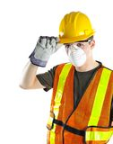 Construction Worker Wearing Safety Equipment Stock Images