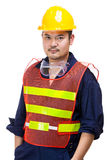 Construction worker wearing safety helmet Stock Photography