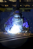Construction worker welding Royalty Free Stock Photography
