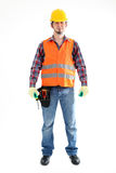Construction Worker. On the white background. Isolated on white stock image