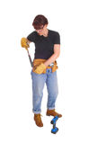 Construction worker woman. Royalty Free Stock Photos