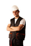 Construction worker in work dress isolated Royalty Free Stock Photo