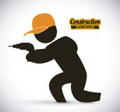 Construction worker. Work vector illustration Royalty Free Stock Photos