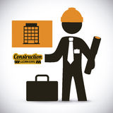 Construction worker. Work vector illustration Stock Images