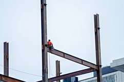 Construction worker working on highrise building Stock Photography