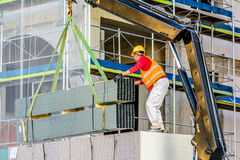 Construction worker. Working on the construction site stock photography