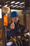 Construction Workerer On Workplace Stock Photography