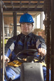 Construction workerer on workplace Royalty Free Stock Photo