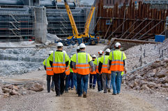 Construction workers. Going to work Royalty Free Stock Photography