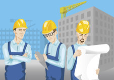 Construction Workers. Working at a construction site Royalty Free Illustration