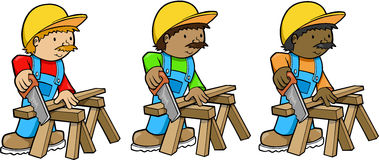 Construction Workers. Construction Worker Men Vector Illustration Royalty Free Stock Photography