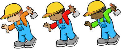 Construction Workers. Construction Worker Men Vector Illustration Stock Images