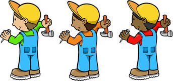 Construction Workers. Construction Worker Men Vector Illustration Stock Photography