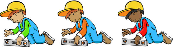 Construction Workers. Men Construction Workers Vector Illustrations Stock Photo