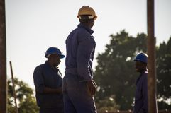 Free Construction Workers Building In Harare Stock Photography - 156635622