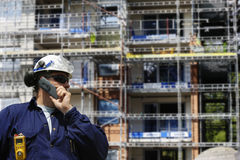 Construction workers and building industry royalty free stock photos