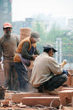 Construction workers in Chengdu Stock Photo