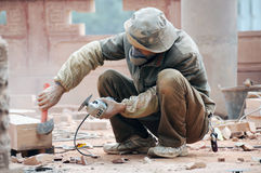 Construction workers in Chengdu Royalty Free Stock Image